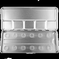 Пенал-палитра металлическая для акварели Make-Up Atelier Paris M12C на 12 позиций: фото