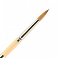 Кисть для ногтей (акрил) ВАЛЕРИ-Д из волоса колонка №6 круглая в футляре: фото