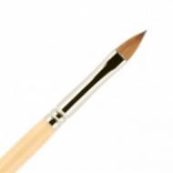 Кисть для ногтей (акрил) ВАЛЕРИ-Д из волоса колонка №6 лепесток в футляре: фото