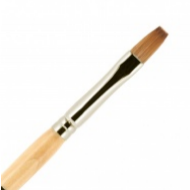 Кисть для ногтей (акрил) ВАЛЕРИ-Д из волоса колонка №6 ровная в футляре: фото
