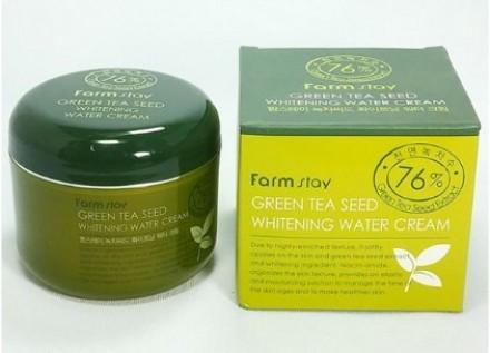 Крем осветляющий с семенами зеленого чая FARMSTAY Green tea seed whitening water cream 100 г: фото