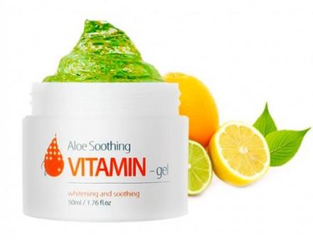 Крем-гель витаминный с алое THE SKIN HOUSE Aloe soothing vitamin gel 50мл: фото