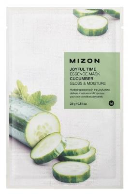 Тканевая маска с огурцом MIZON Joyful Time Essence Mask Cucumber 23г: фото