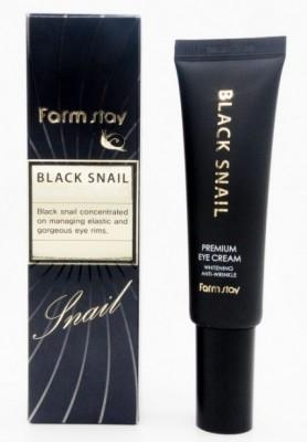 Крем вокруг глаз премиальный с муцином черной улитки FARMSTAY Black snail premium eye cream 50 мл: фото