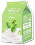 Тканевая маска молочная с зеленым чаем A'PIEU Green Tea Milk One-Pack: фото