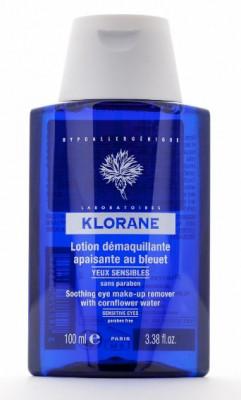 Лосьон для снятия макияжа с глаз с экстрактом Василька Klorane Eye Care Range 100мл: фото