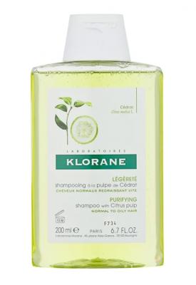 Шампунь с мякотью Цитрона для блеска волос Klorane Energy and Shine with citrus pulp 200 мл: фото