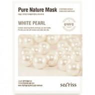 Маска для лица тканевая Anskin Secriss Pure Nature Mask Pack- White pearl 25мл: фото