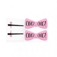 Заколки для фиксации волос во время косметических процедур Double Dare OMG! нежно-розовые 2шт: фото