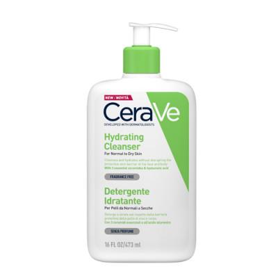 Крем-гель увлажняющий очищающий для нормальной и сухой кожи лица и тела CeraVe 473 мл: фото