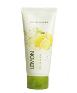 Гель-скатка с экстрактом лимона очищающий NATURE REPUBLIC REAL NATURE LEMON PEELING GEL WASH 120мл: фото