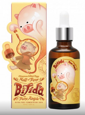 Сыворотка восстанавливающая с бифидобактерями Elizavecca Witch Piggy Hell Pore Bifida Pure Ample 100% 50мл: фото