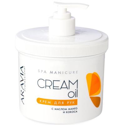 Крем для рук с маслом кокоса и манго Aravia Professional Cream Oil 550мл: фото