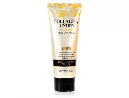 Маска-плёнка золотая с коллагеном 3W CLINIC Collagen & Luxury Gold Peel Off Pack: фото