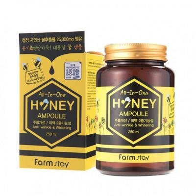 Сыворотка ампульная с медом FarmStay All In One Honey Ampoule 250мл: фото