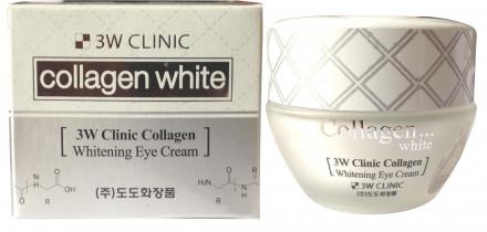 Крем для век осветляющий с коллагеном и ниацинамидом 3W CLINIC Collagen Whitening Eye Cream: фото