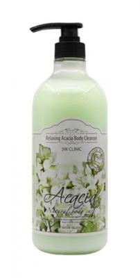 Гель для душа релакс АКАЦИЯ 3W CLINIC Relaxing Body Cleanser Acacia 1000 мл: фото
