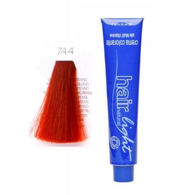 Крем-краска для волос Hair Company HAIR LIGHT CREMA COLORANTE 7.44 русый медный интенсивный 100мл: фото