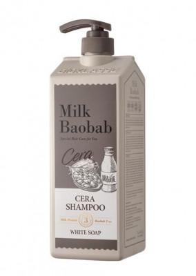 Шампунь с керамидами, с ароматом белого мыла Milk Baobab Cera Shampoo White Soap 1200мл: фото