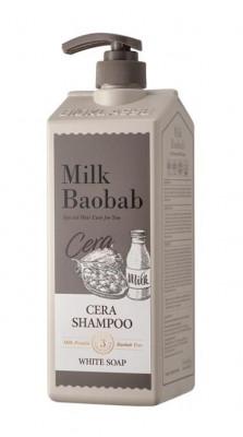 Шампунь с керамидами для волос, с ароматом белого мыла MILK BAOBAB Cera Shampoo White Soap 1200 мл: фото