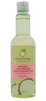 Масло для кожи и волос РУБИНОВАЯ РОЗА TROPICANA Organic Cold Pressed Virgin Coconut Oil Ruby Rose 100мл: фото