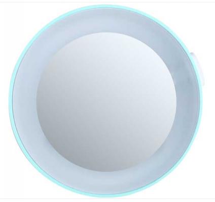 Зеркало косметологическое 10x, с подсветкой, бирюзовое Gezatone LM100: фото