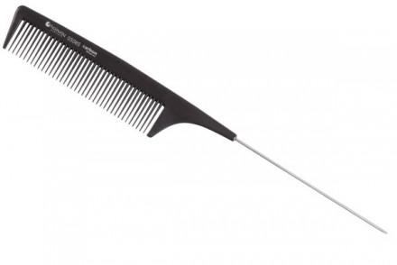 Расческа с металлическим хвостиком Hairway Carbon Advanced 220 мм: фото