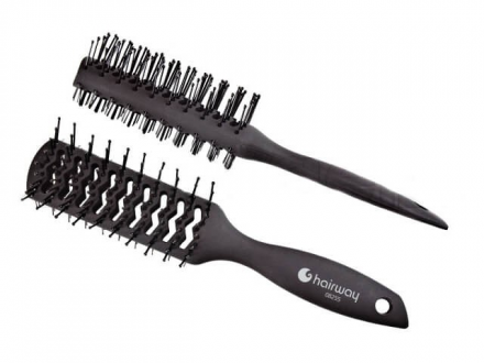 Щетка двусторонняя 2х9 рядов Hairway Carbon Advance: фото