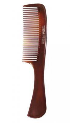 Расческа-гребень с ручкой Titania 20,5см коричневая: фото