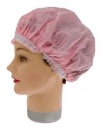 Шапочка для душа/химии пластиковая Sibel розовая: фото