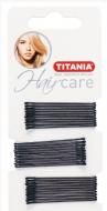 Невидимки прямые Titania 5см черные 30шт: фото