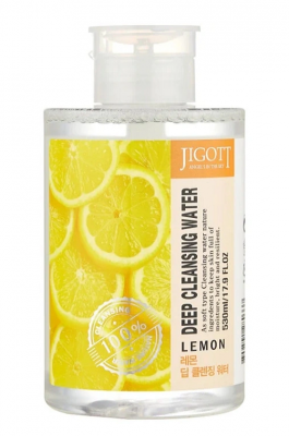 Жидкость для снятия макияжа ЛИМОН JIGOTT LEMON Deep Cleansing Water 530мл: фото