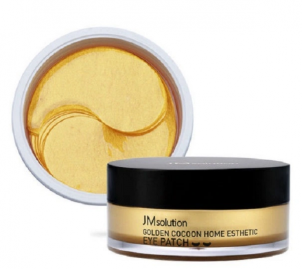 Патчи с экстрактом золотого шелкопряда JMsolution Golden cocoon home esthetic eye patch 60шт: фото