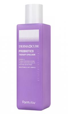 Эмульсия с пробиотиками восстановление кожи FarmStay Derma cube probiotics therapy 200мл: фото