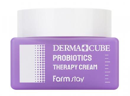 Крем с пробиотиками восстановление кожи FarmStay Derma cube probiotics 50мл: фото
