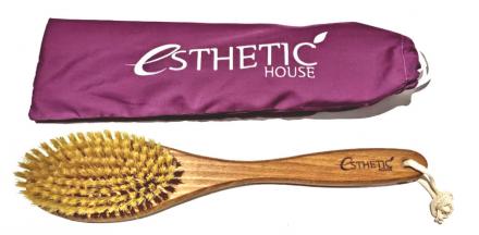 Щетка дренажная для сухого массажа Esthetic House бук/сизаль/воск 39*8*4,5 см: фото